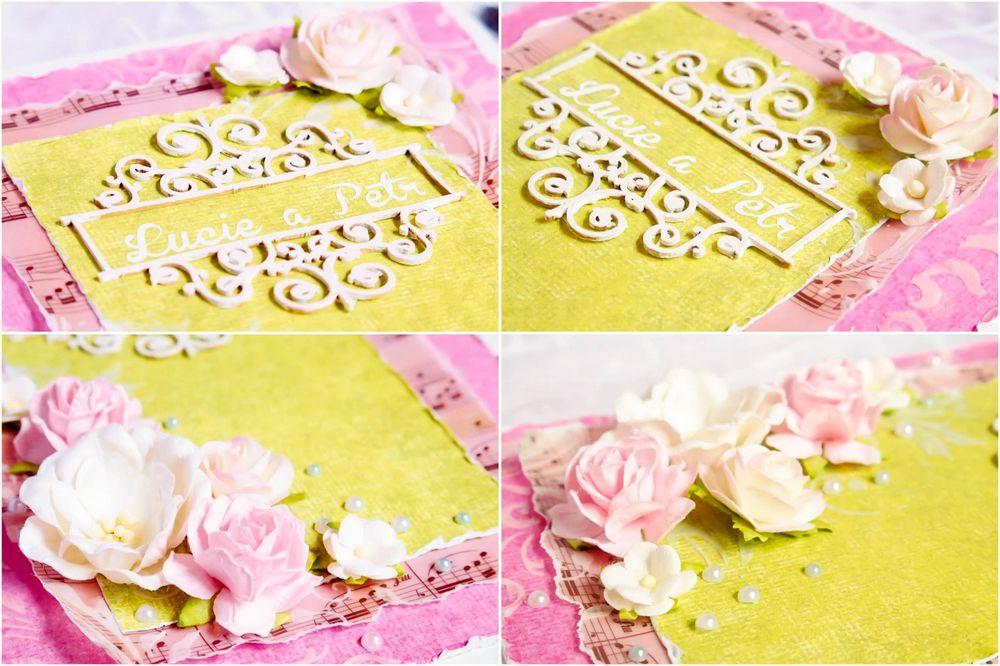 Svatební gratulace v zelinkavo růžové