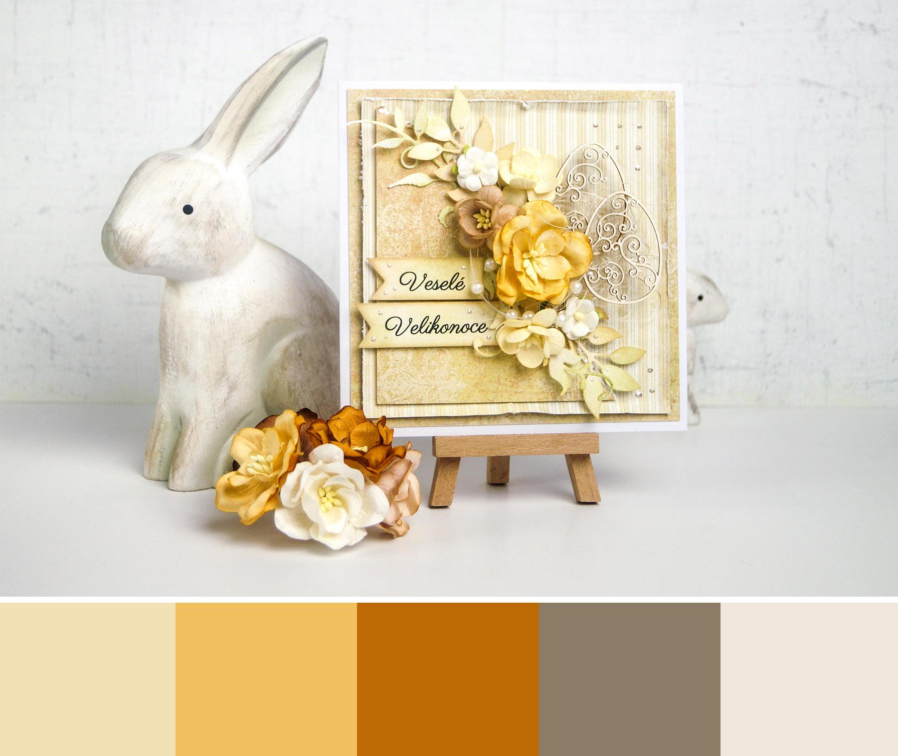 EASTER CARD - Velikonoční paleta v barvách země