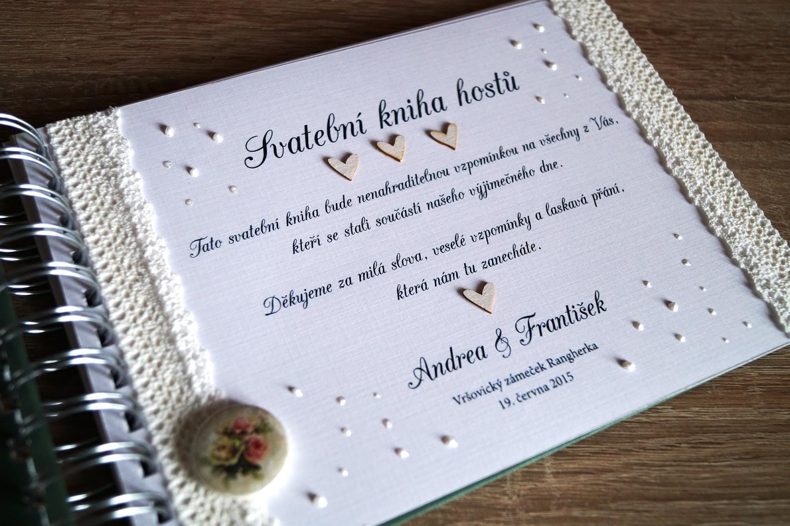 WEDDING ALBUM - Svatební kniha hostů