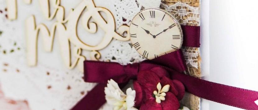 DIANKA... Svatební přáníčko v bordó