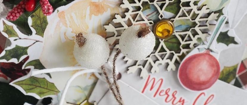 ERIKA... První střípky Vánoc – visačka jako přání