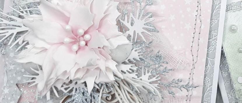 LUCKA GNOJKOVÁ... Vánoční přání s hvězdami z foamiranu