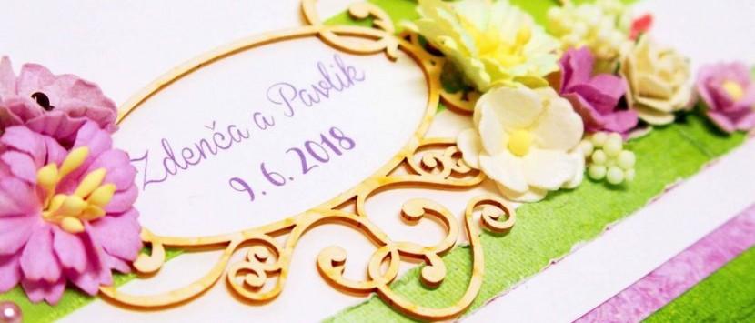 JITKA... Svatební kniha v zelinkavo-fialkové