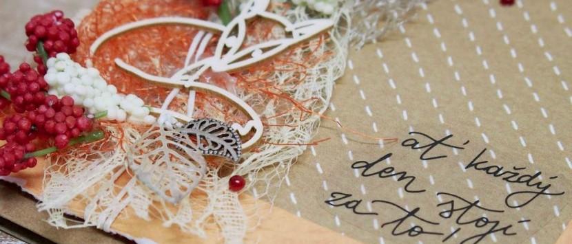 JITKA... Podzimní přáníčko s lištičkou