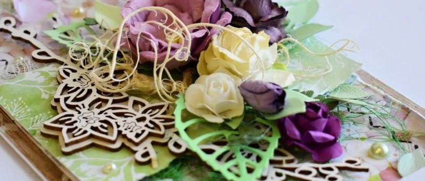 MILUŠKA... VIDEONÁVOD: Narozeninové přání v jarních barvách