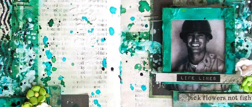 MÍŠA... Mixed Media v zelené