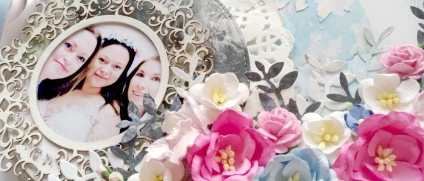 MÍŠA... Romantický layout na vyšívacím kruhu