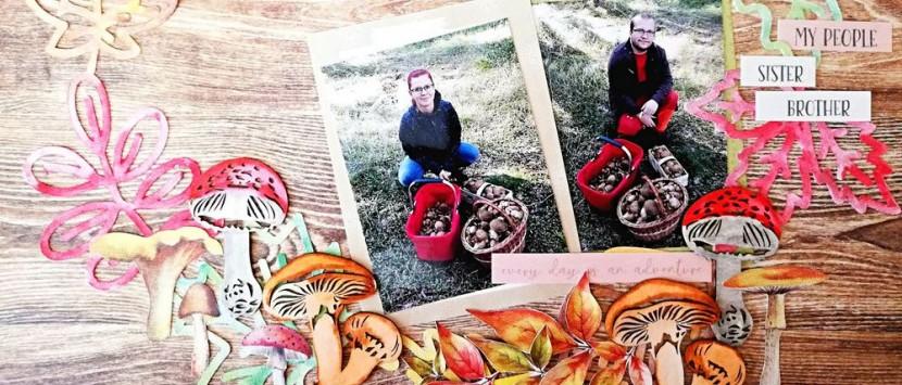 MÍŠA... Podzimní layout z vánoční kolekce