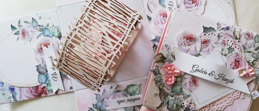 MÍŠA... Svatební exploding box s altánkem