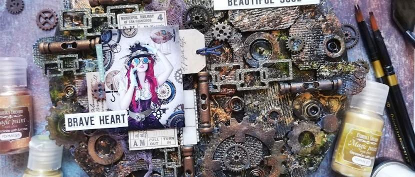 MÍŠA... VIDEONÁVOD: Steampunk plátno