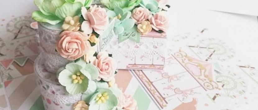MÍŠA... Svatební exploding box