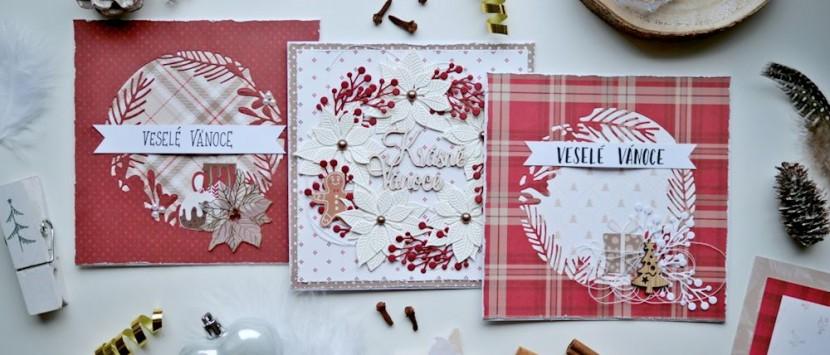 MONČA... Vánoční přáníčka od Moda Scrap