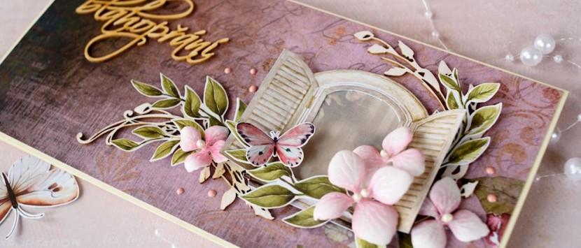 PETRA... Vintage květinová přání zaměřená na chipboardy