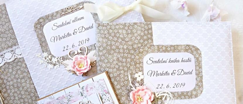 VIPETA… VIDEO: Svatební prošívaný set - album a kniha hostů