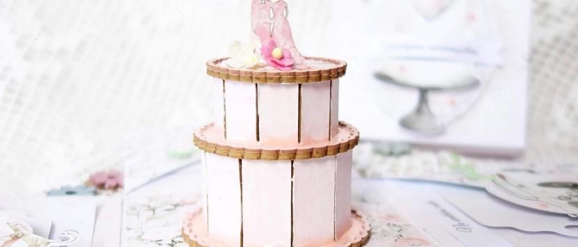 VIPETA... Svatební exploding box s kapsičkami na peníze a dortem