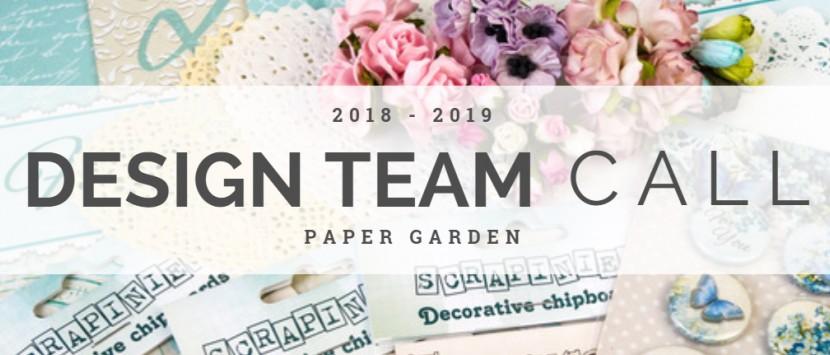 DESIGN TEAM CALL 2018 / 2019