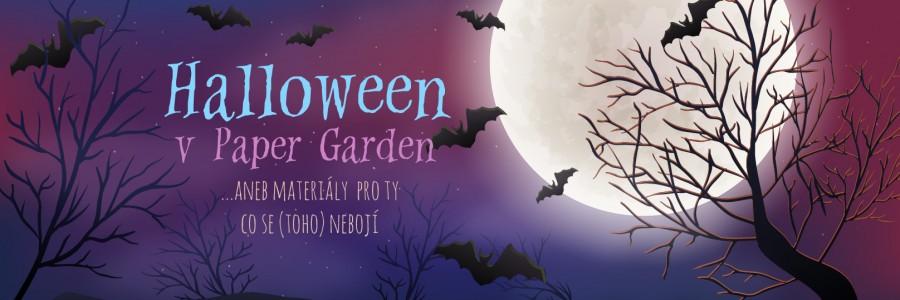 Halloween v Paper Garden