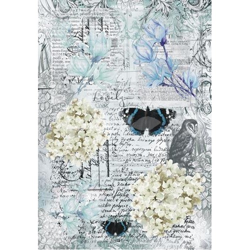 BLUE MAGNOLIA - Butterfly collage