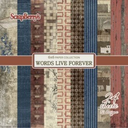 WORDS LIVE FOREVER - 6 x 6
