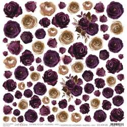 PLUM IN CHOCOLATE - Obrázky k vystřižení - Flowers XXV