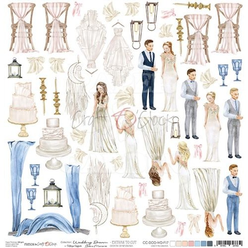 WEDDING DREAM - Obrázky k vystřižení