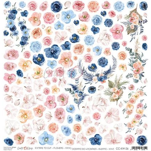 WEDDING DREAM - Flowers  XXVI - Obrázky k vystřižení