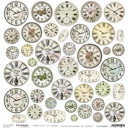 CLOCKS XII - Obrázky k vystřižení