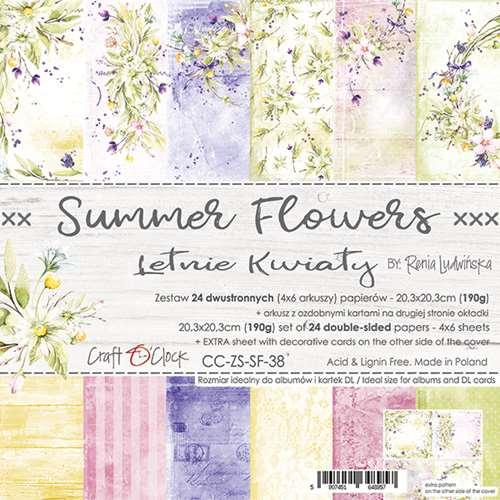 SUMMER FLOWERS - 8 x 8