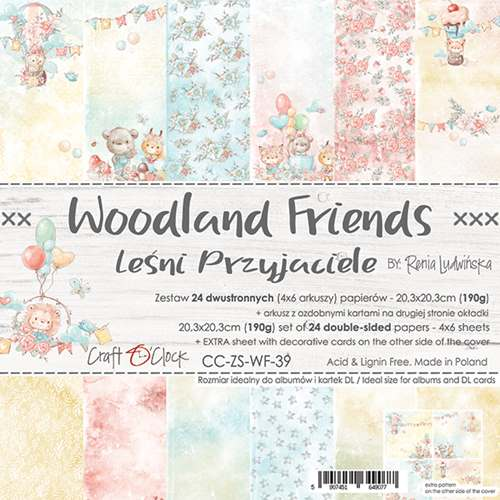 WOODLAND FRIENDS - 8 x 8