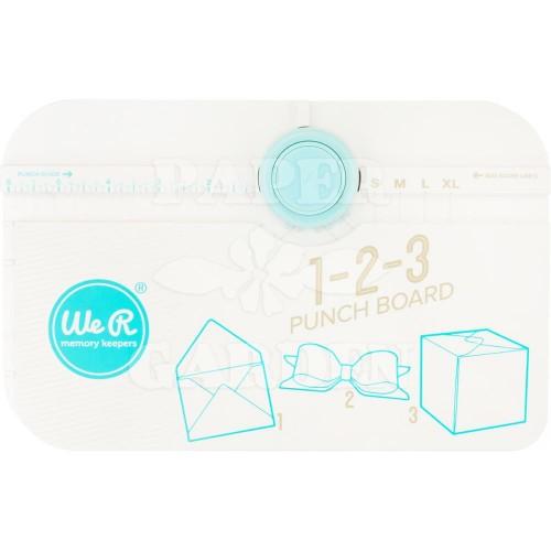 Raznice na obálky, krabičky a mašle - 123 punch board