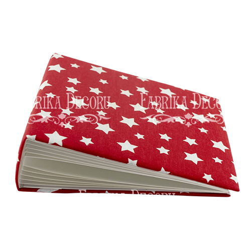 Stars on red - 20 x 20 cm