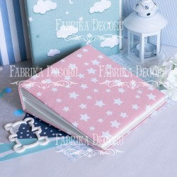 Pink stars - 20 x 20 cm