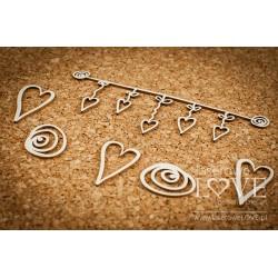 LOVE LLAMA - srdíčka + girlanda