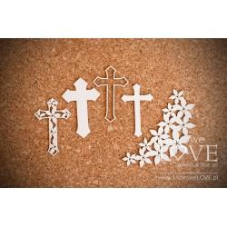 Kříže + květinový dekor