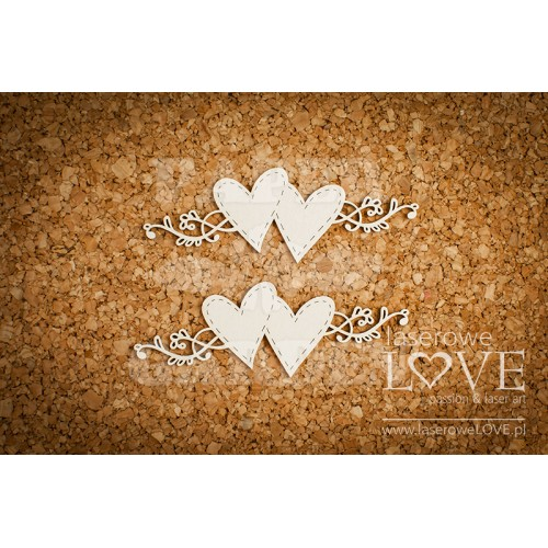 SIMPLE WEDDING - Srdce s ornamenty