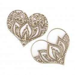 Mehendi - Lotusové srdce - 2ks