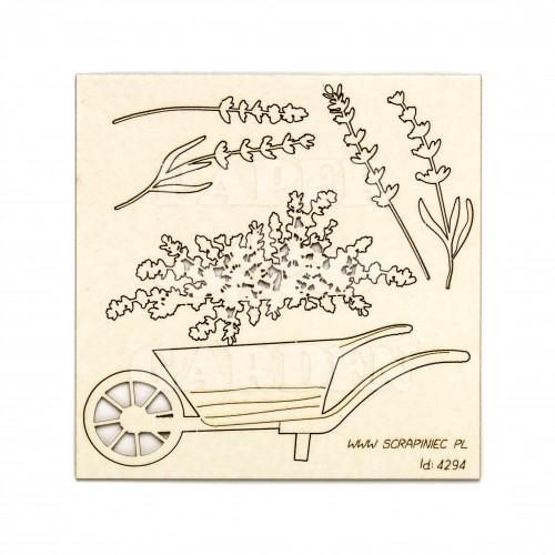 Lavender Mist - Trakař a levandule