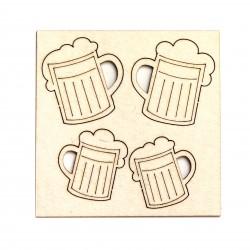 Pivní půllitr 4 ks