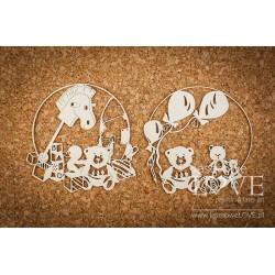 VINTAGE BABY - Medvídci v rámečku
