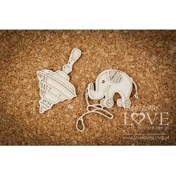 VINTAGE BABY - Slon a káča
