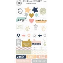 JOURNAL STORIES - Chipboard samolepky