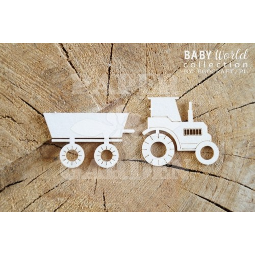 BABY WORLD - Traktor s přívěsem