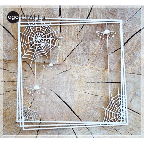 HALLOWEEN - Rámeček s pavučinou