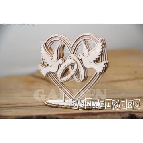 LOVE IN 3D - Srdce s holubicemi 3D