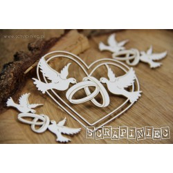 LOVE IN 3D - Srdce s holubicemi 01