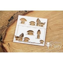 Blueberry Fairy - rámeček s houbami (malý)