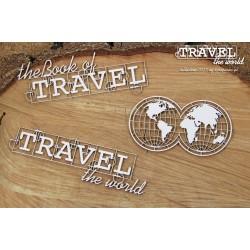 Travel the World - glóby s nápisy