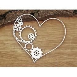 Flying hearts - srdce s bordurou ozubených kol