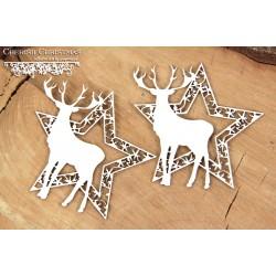 CHERISH CHRISTMAS - 2 hvězdy s jelenem