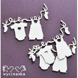 PRO MIMINKO - Oblečení na šňůře (girlanda)